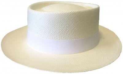 Hats - Maki Round Crown Panama With White Band (white)