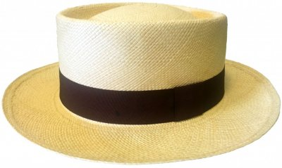 Hats - Maki Round Crown Panama With Brown Band (natural)