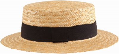 Hats - Gårda Capri Boater Black Band (natural)