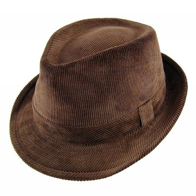 Hats - Corduroy Trilby (brown)