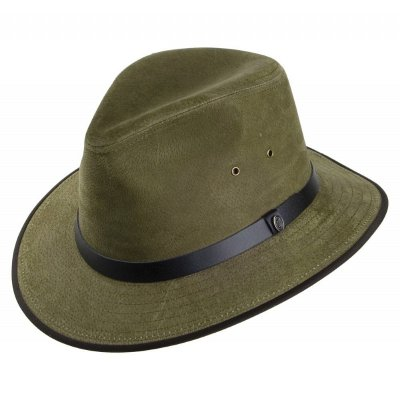 Hats - Nubuck Leather Safari Fedora (olive)