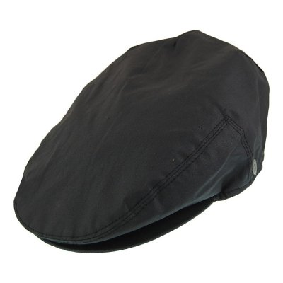 Flat cap - Jaxon Hats Oil Cloth Flat Cap (black)
