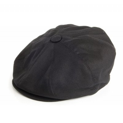 Gubbkeps / Flat cap - Jaxon Hats Pique Cotton Knit Newsboy Cap (svart)