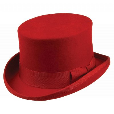 Hats - Mid-Crown Top Hat (red)