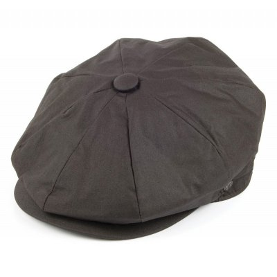 Flat cap - Jaxon Hats Oil Cloth Newsboy Cap (brown)