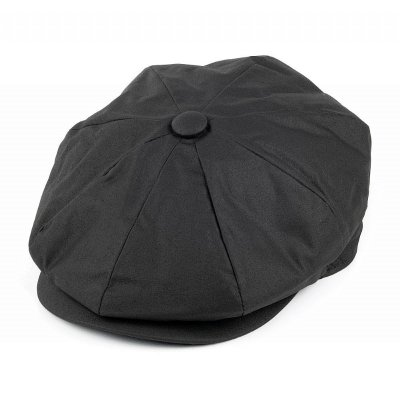 Flat cap - Jaxon Hats Oil Cloth Newsboy Cap (black)