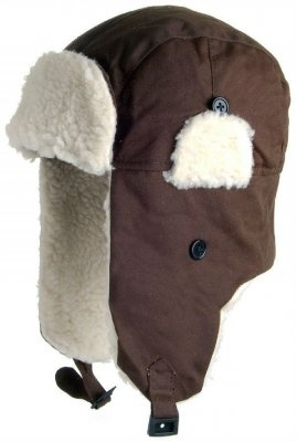 Trapper hat - Jaxon Oilcloth Trapper (brown)