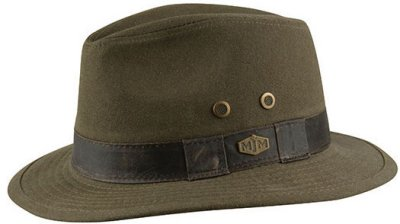 Hats - MJM Outback Washed Canvas (olive)