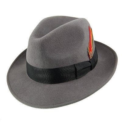 Hats - Crushable Pinch Crown Fedora (grey)
