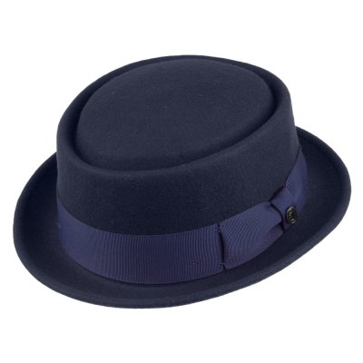 Hats - Crushable Pork Pie (navy blue)