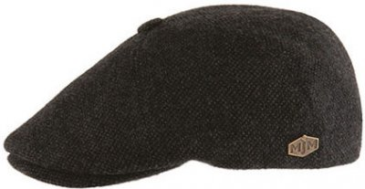 Flat cap - MJM Rebel Eco Merino Wool (anthracite)