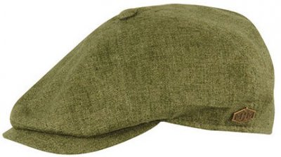 Flat cap - MJM Rebel Linen (green)