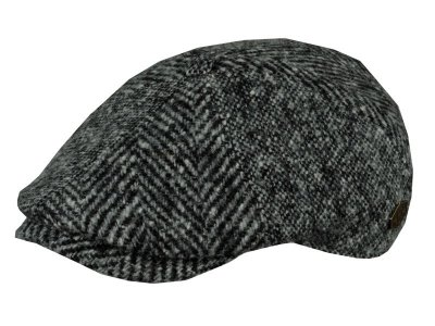 Flat cap - MJM Rebel Wool Patch (grey)