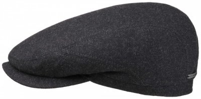 Flat cap - Stetson Belfast Wool/Cashmere (anthracite)