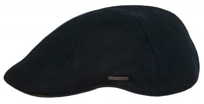 Flat cap - Stetson Texas Cotton Knit (black)