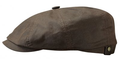 Flat cap - Stetson Hatteras Waxed Cotton (brown)
