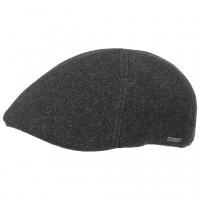 Flat cap - Stetson Texas Wool/Cashmere (anthracite)
