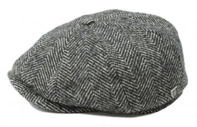Flat cap - Brixton Brood Baggy (black-white)