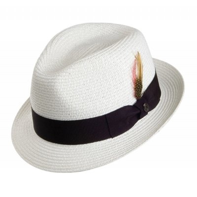 Hats - Toyo Braided Trilby (white)