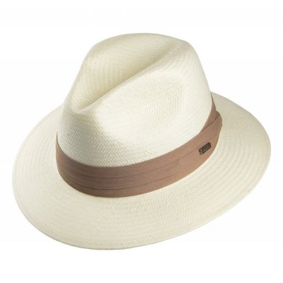 Hats - Toyo Safari Fedora With Khaki Band (white)