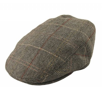 Flat cap - Jaxon Tweed Flat Cap (brown-grey)