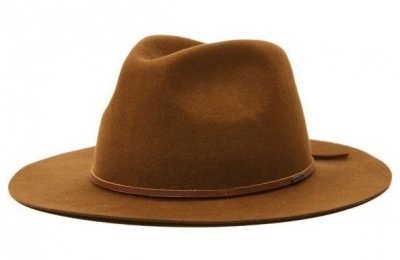 Hats - Brixton Wesley Packable Fedora (light tan)