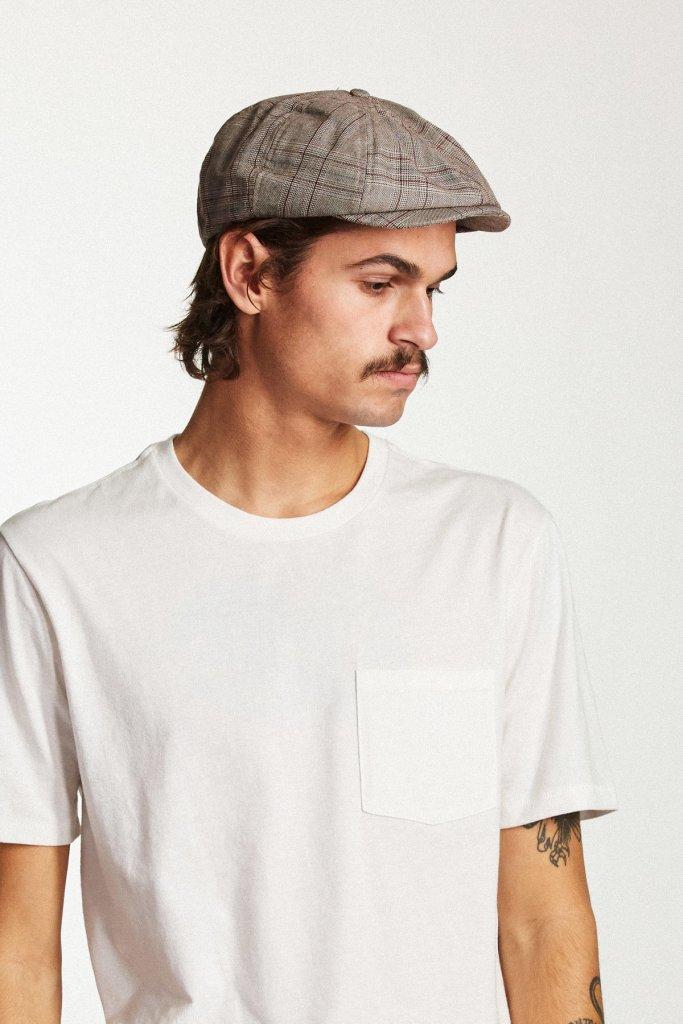 Flat cap - Brixton Brood (taupe plaid) - Brixton - Men s hats ... 9112096e050