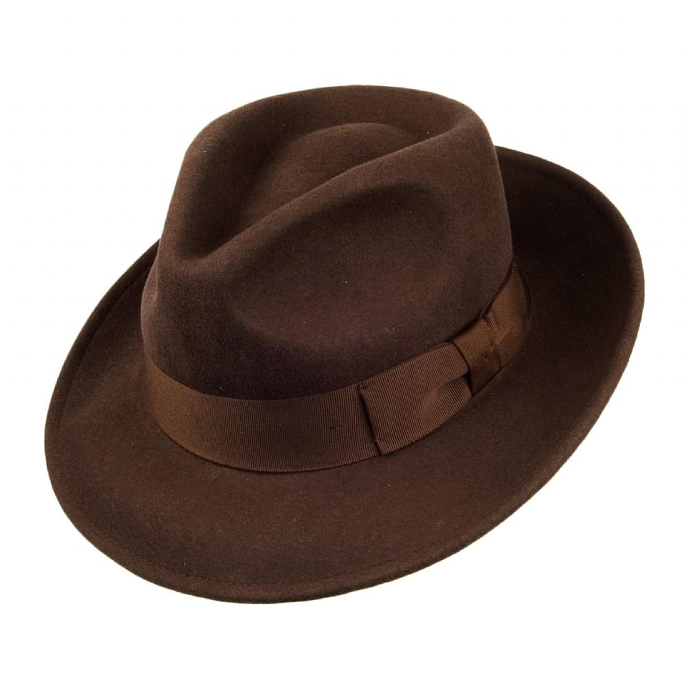 Hats - Jaxon Crushable C-Crown Fedora (brown) - Jaxon - Men s hats ... 0dbe9cfa688