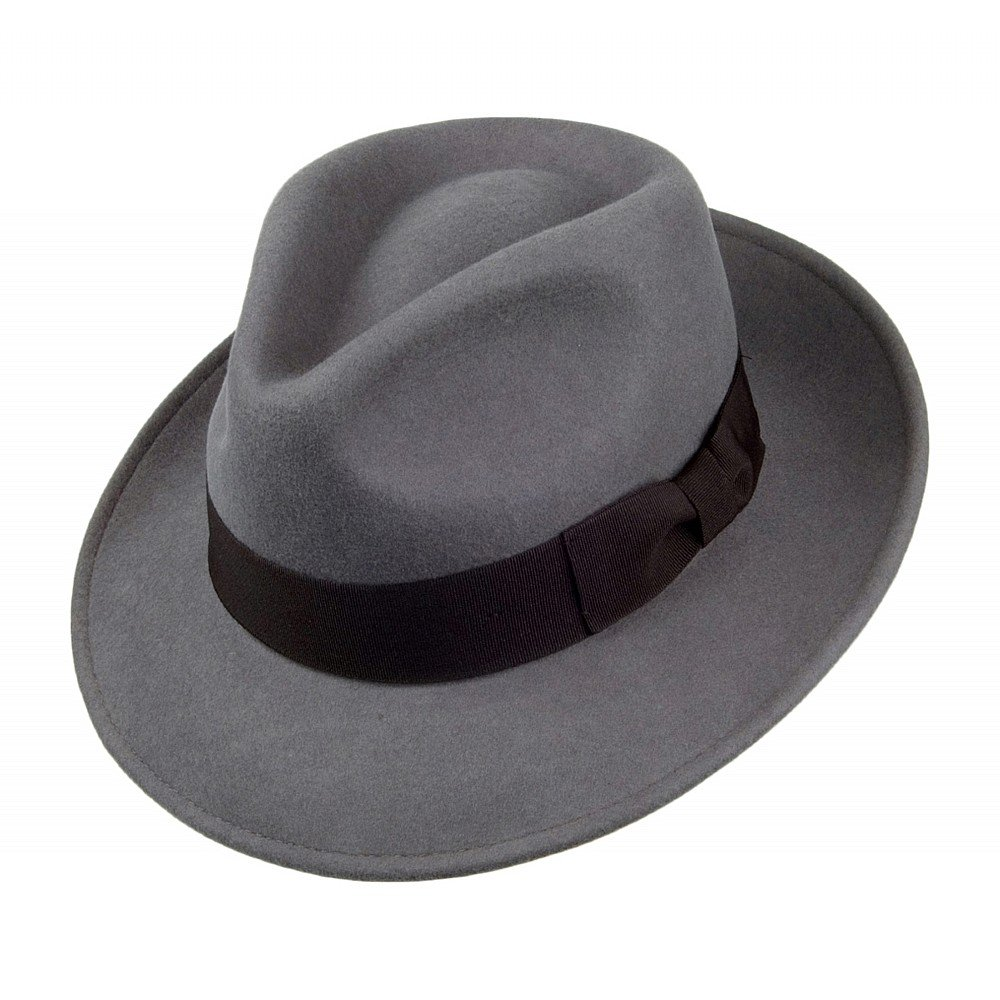 6c39182f Hats - Jaxon Crushable C-Crown Fedora (grey)