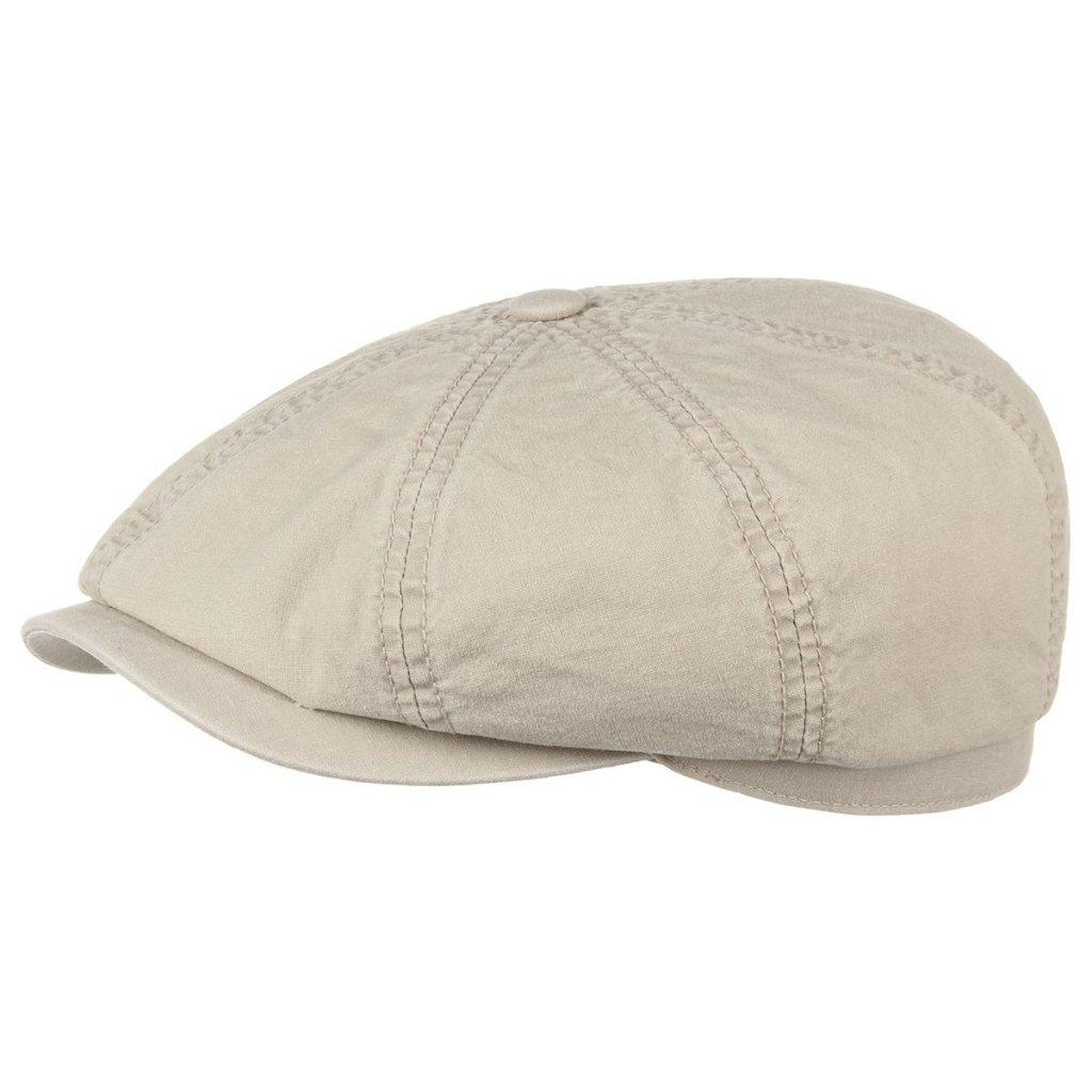 b0ea5dbe Flat cap - Stetson Hatteras Delave Organic Cotton (beige)