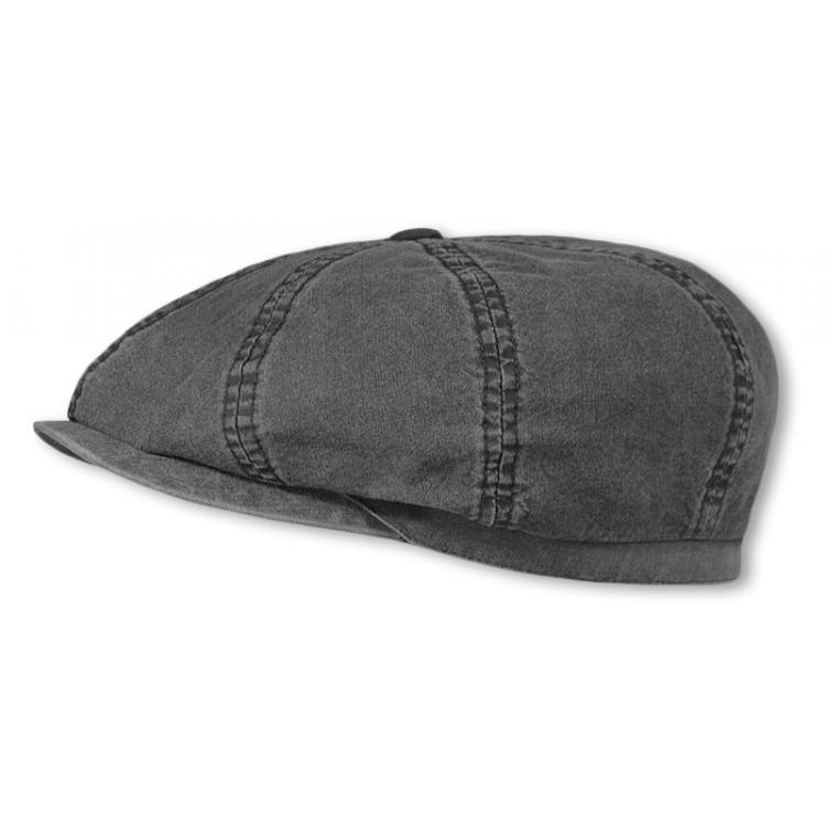 ef92978b Flat cap - Stetson Hatteras Delave Organic Cotton (black)