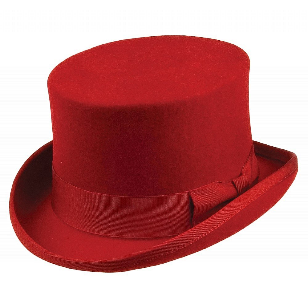 Hats - Jaxon Mid-Crown Top Hat (red)