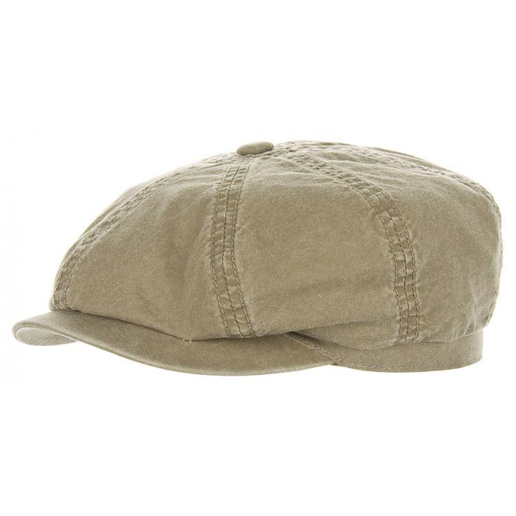 d929f511 Flat cap - Stetson Hatteras Delave Organic Cotton (olive)